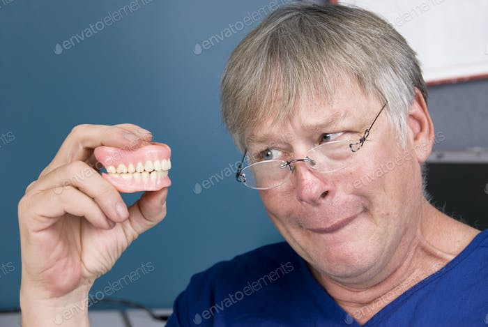 Man and his dentures