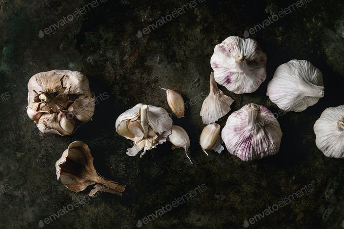 Group of garlic
