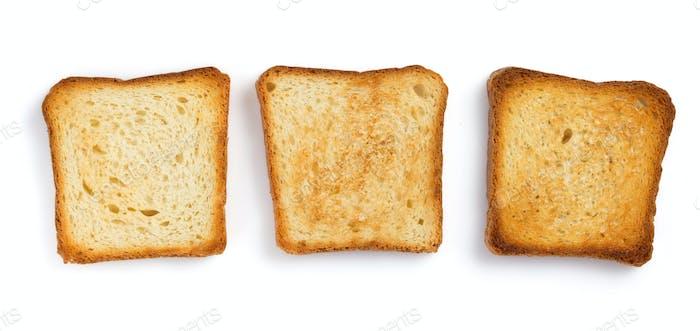 geschnittenes Brot isoliert auf weiß