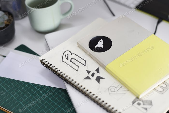 Notebook With Brand Logo Creative Design Ideas