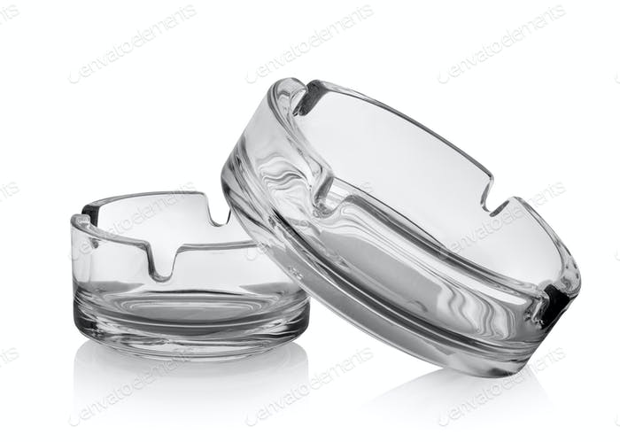 Two ashtrays