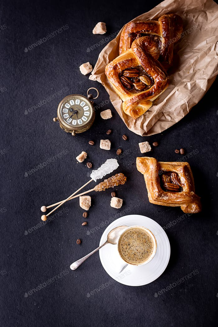 Pecan Gebäck mit Kaffee