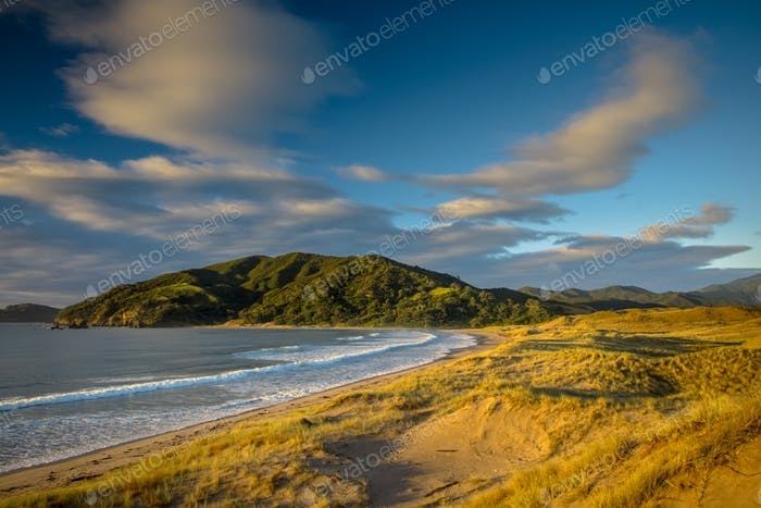 Beautiful Waikawau Bay Sunrise New Zealand