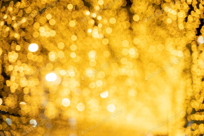 abstract blurry bokeh background of night light, Christmas party background