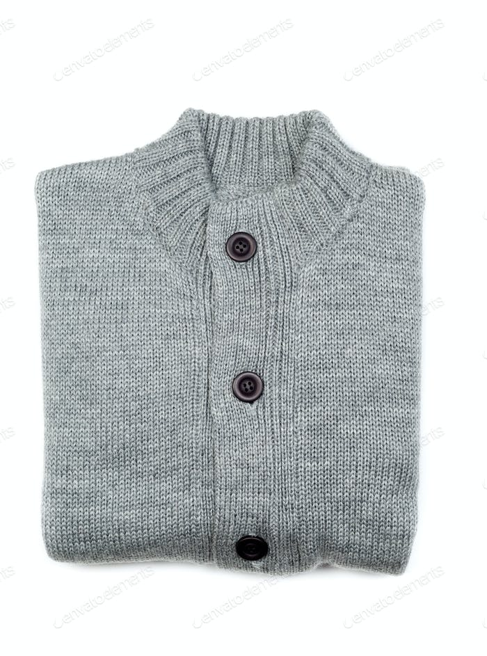 gray knit sweater complex