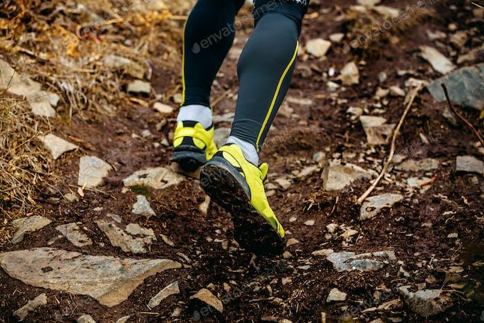 feet athlete runner running trail