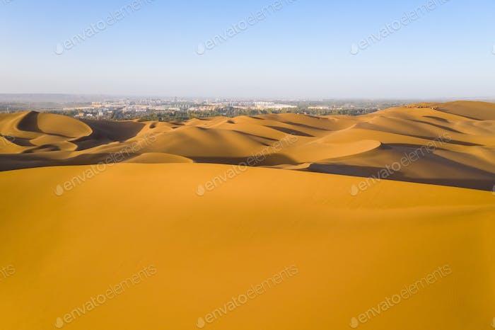 desert near the city