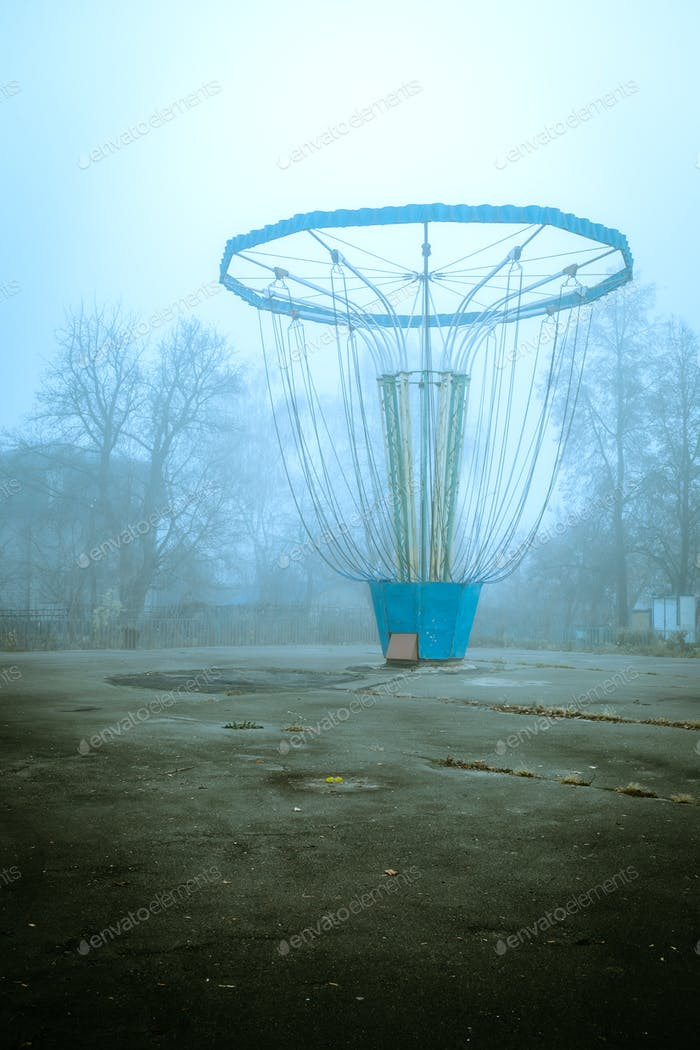 Carousel in the fog