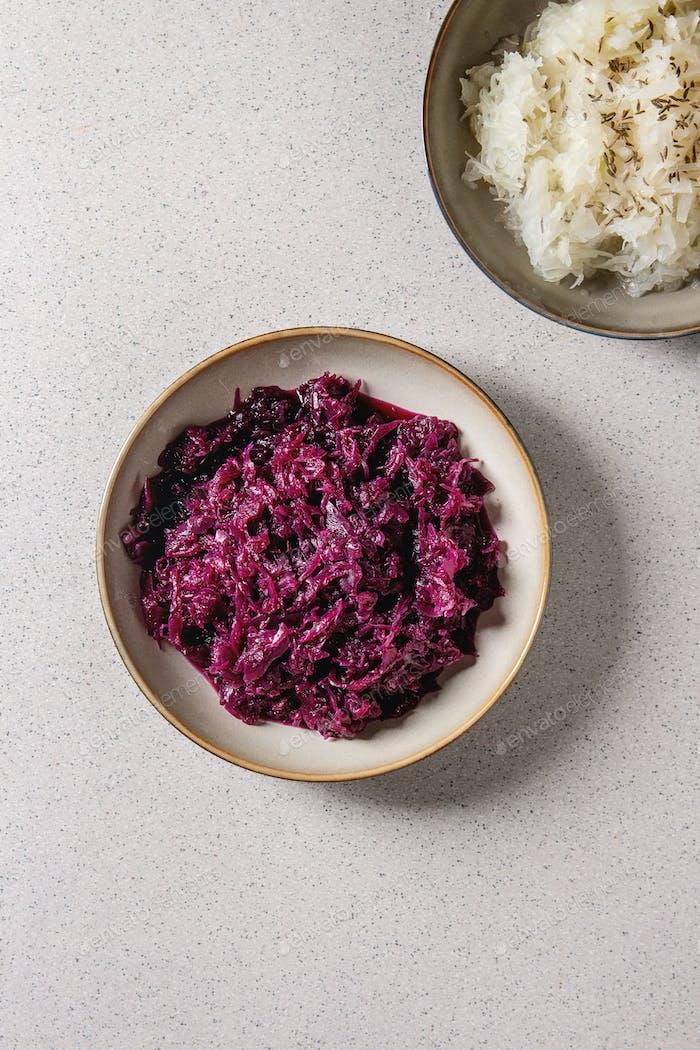 Plate of sauerkraut
