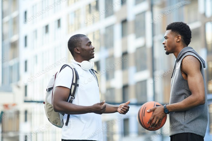 Sportive african Men Outdoors