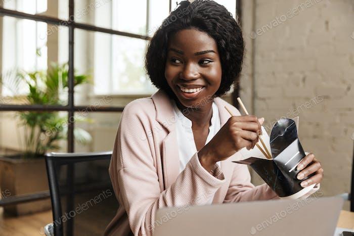 Confident attractive young woman entrepreneur