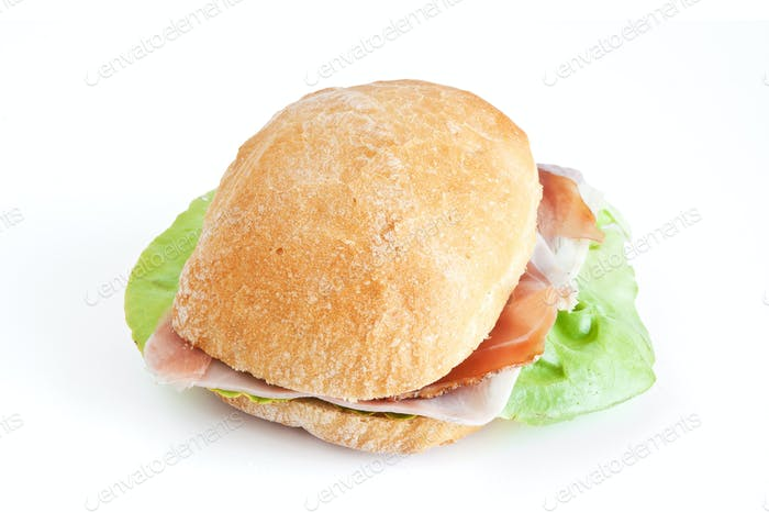 ham and lettuce sandwhich