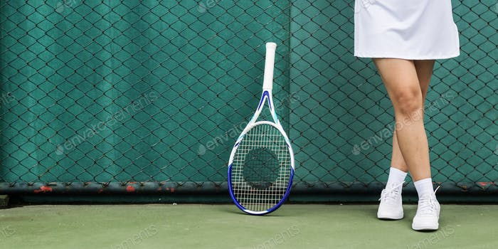 Tennis Asian Ethnicity Athlete Girl Woman Young Concept