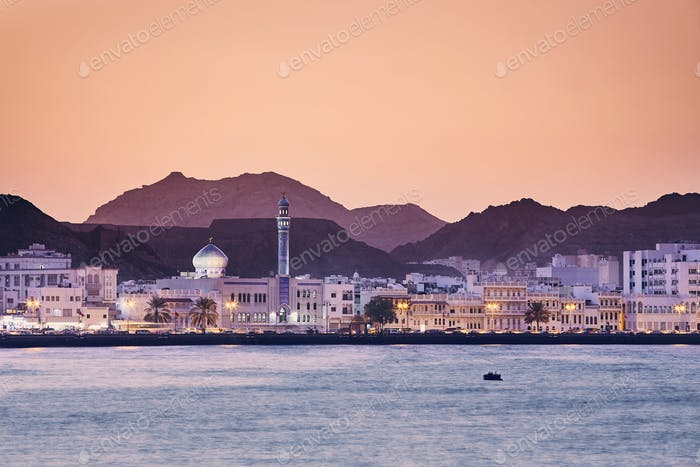 Muscat at golden sunset