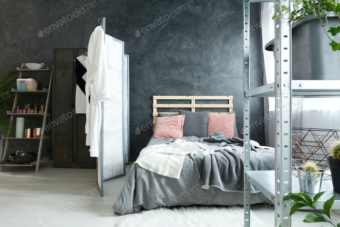 Coy bedroom space