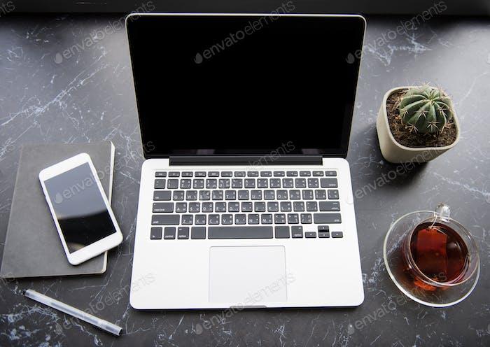 Workstation-Tisch Business Technologie
