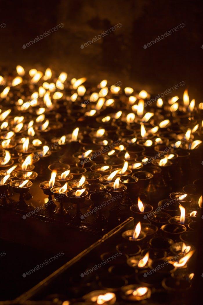 Church candles in Kathmandu