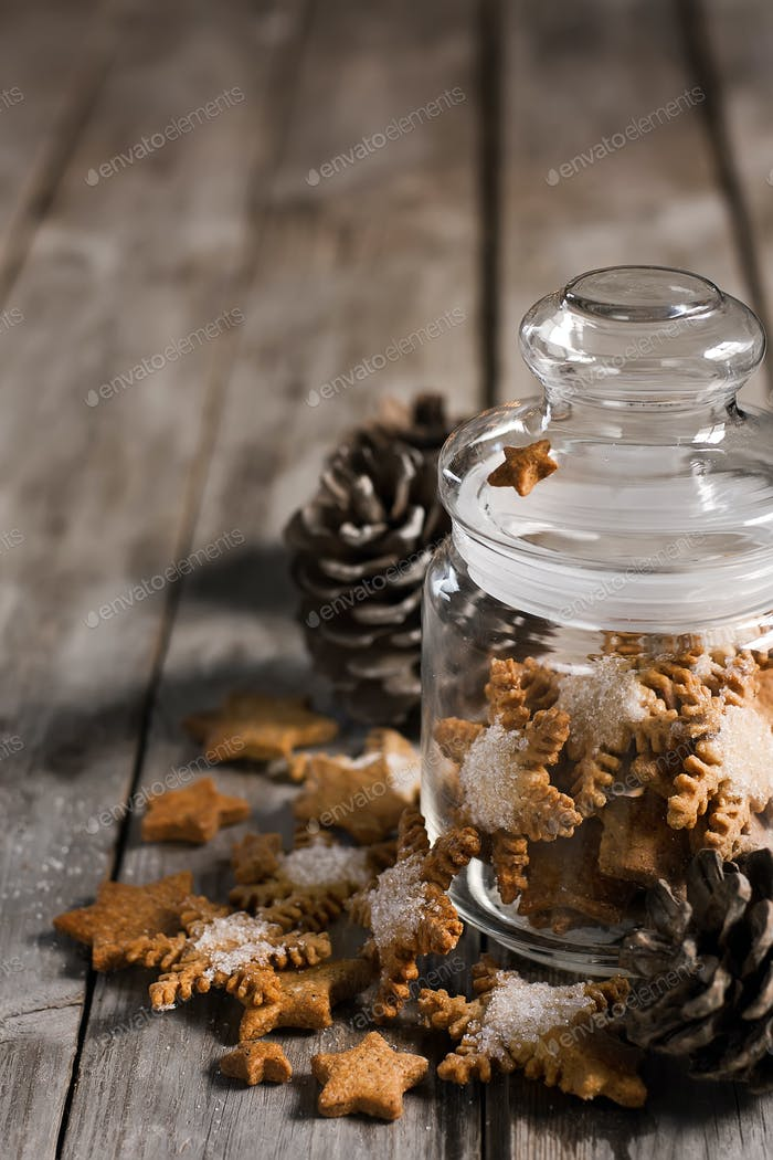 Christmas cookies in jar