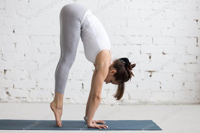 Yoga Indoors: preparation for Handstand pose