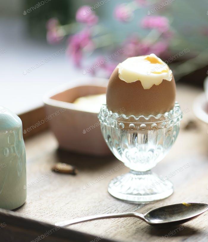 Soft boiled egg food photography recipe idea