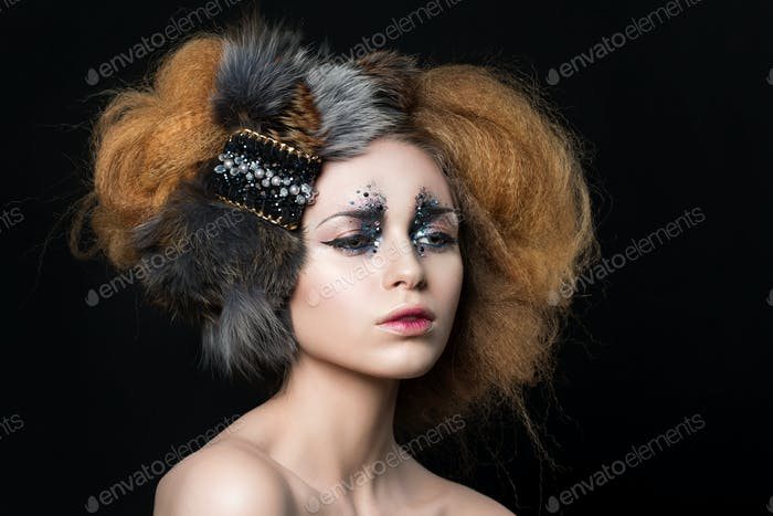 Beauty portrait of young woman