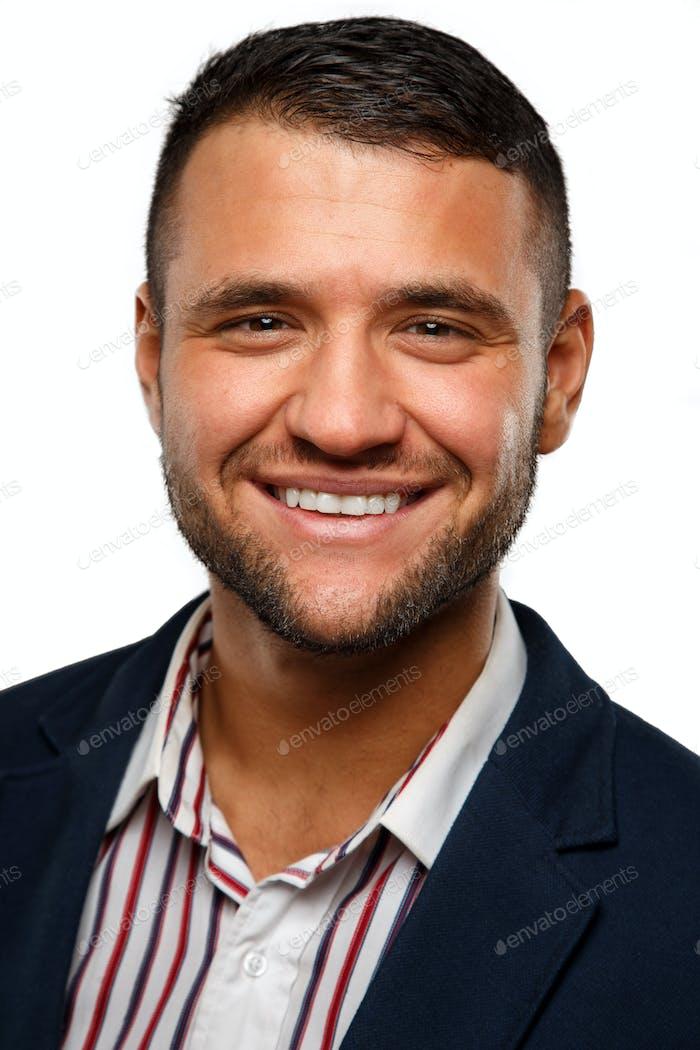 Portrait of a handsome model smiling