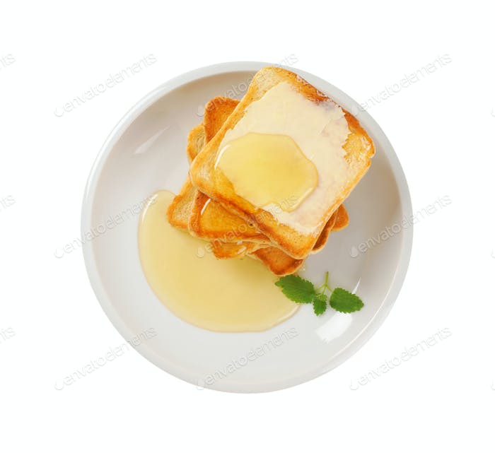 toast with butter and honey