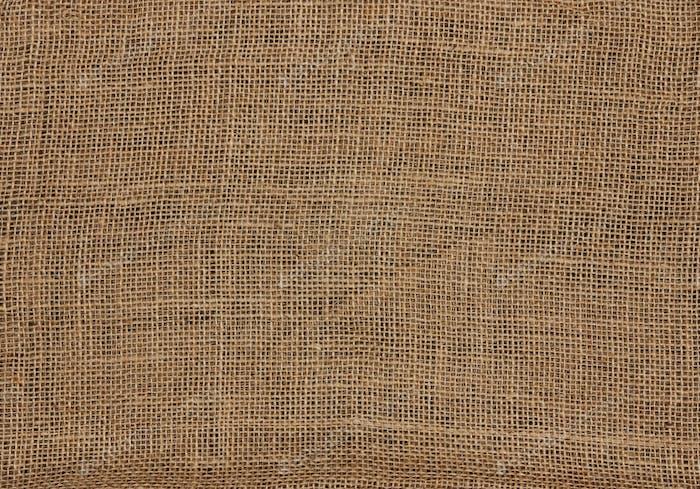 Burlap canvas sackcloth background