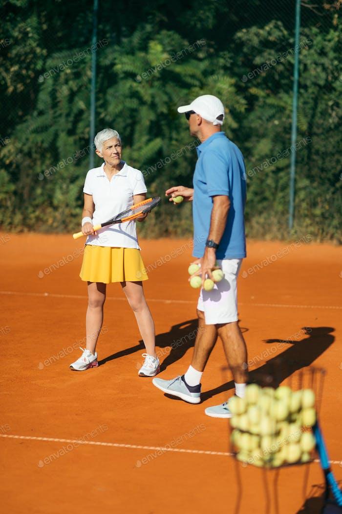 Tennis Training for Senior People