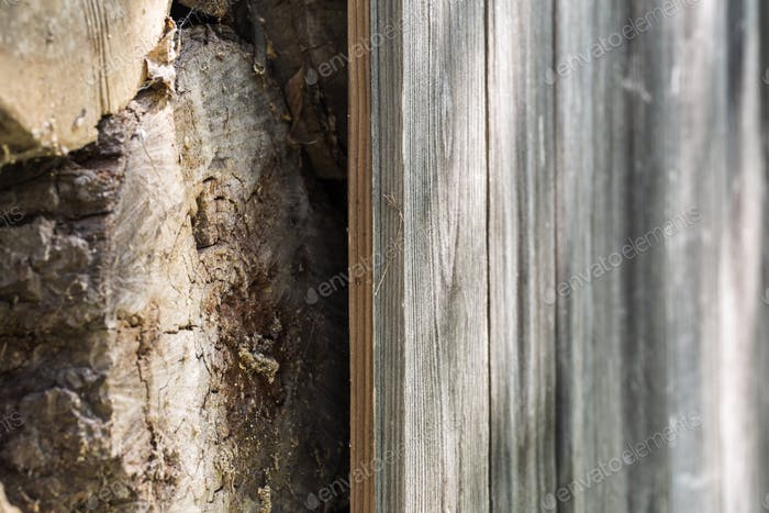 old wooden fence and wood