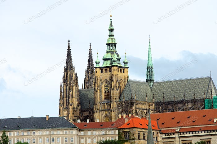 The Saint Vitus cathedral in Prague