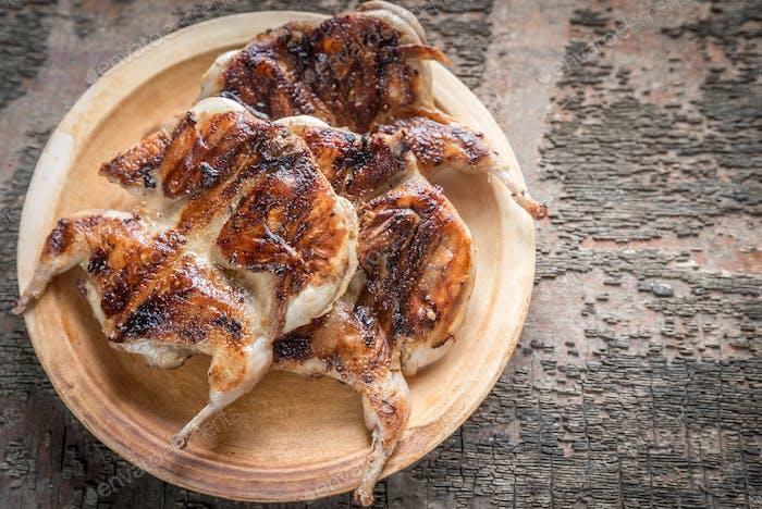 Grilled quails