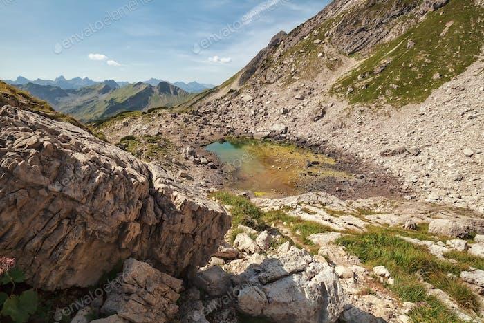 view on alpine lake Koblatsee