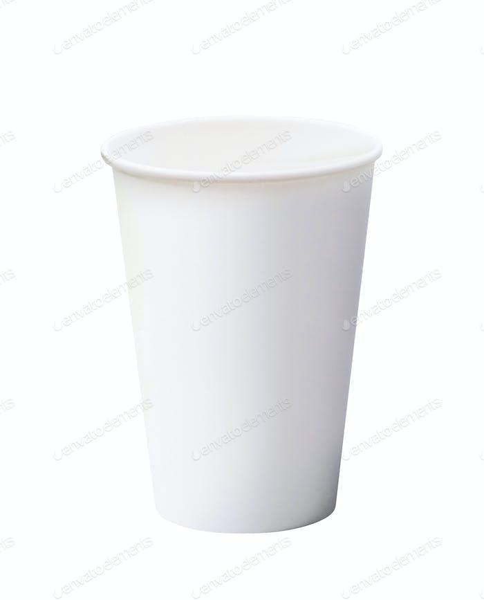 Weißer Papierbecher