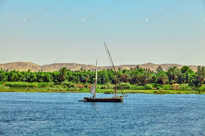 boat on the Nile River. Egypt