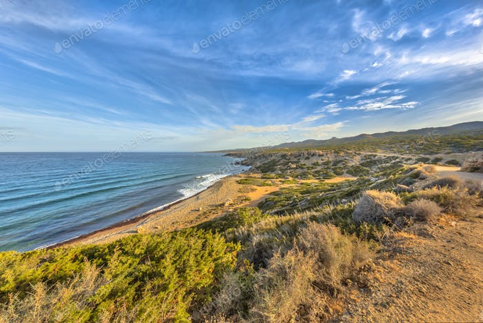 Akamas peninsula coastline on the island of Cyprus