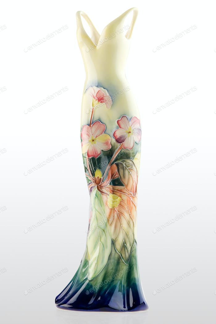 Gown shaped vase