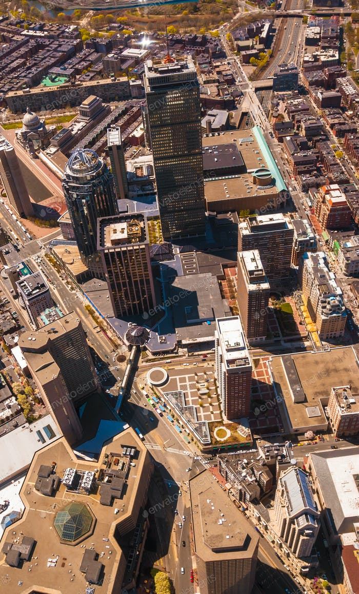 Boston Back Bay aerial