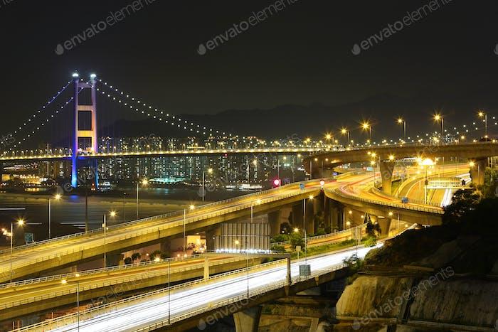 freeway and bridge
