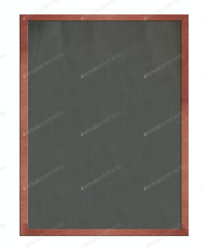 Blank old blackboard isolated