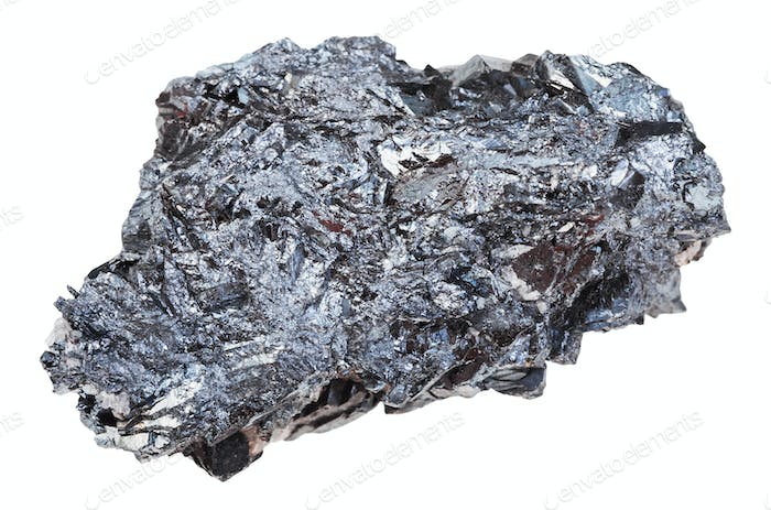piece of hematite (iron ore) stone isolated