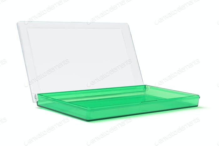Open Green Plastic Box