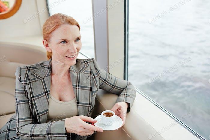 Woman on cruise