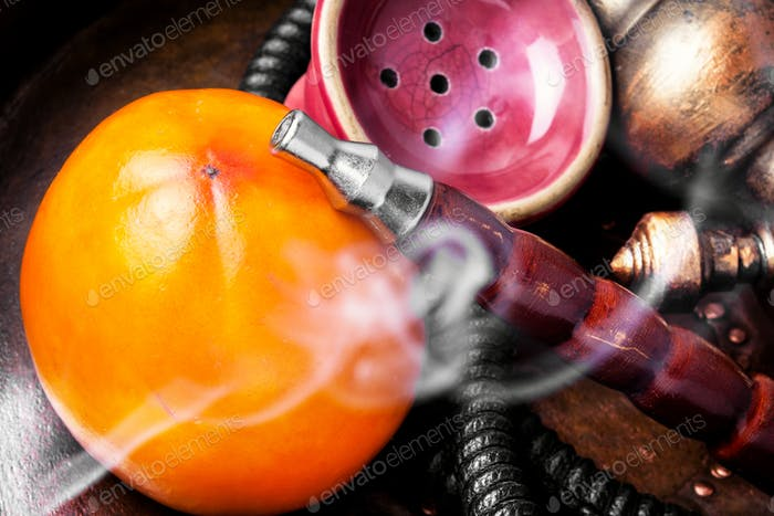 Stylish asian shisha with persimmon