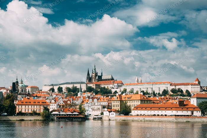 Prague, Czech Republic. Upper Town. Prague Castle And Metropolit