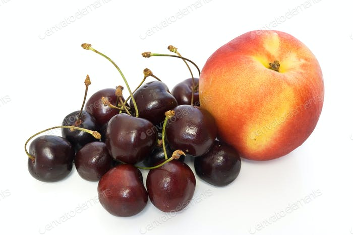 nectarine and cherry