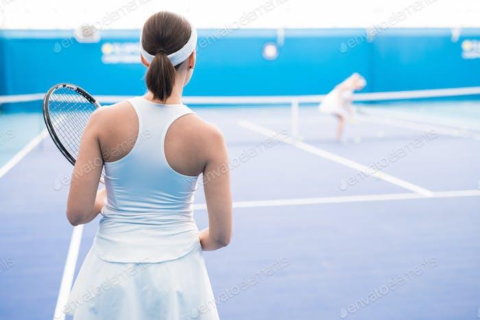 Female Tennis Player Rear View