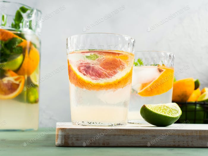 Fresh summer citrus drink