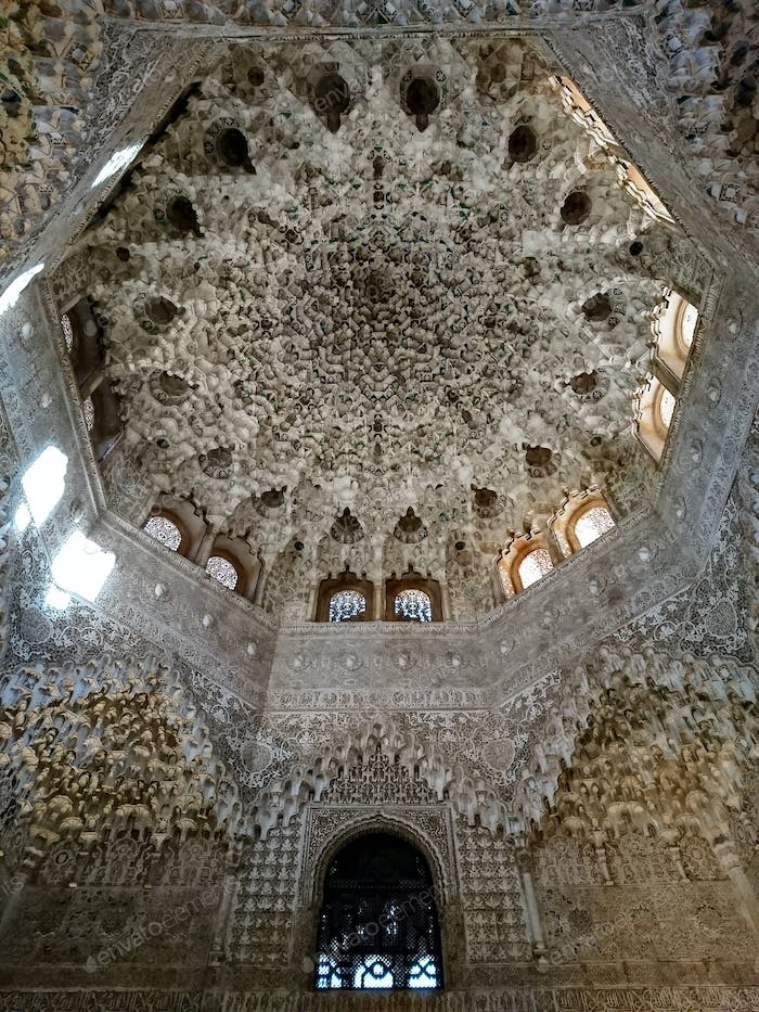 Roof inside a Nasrid Palace in the Alhambra