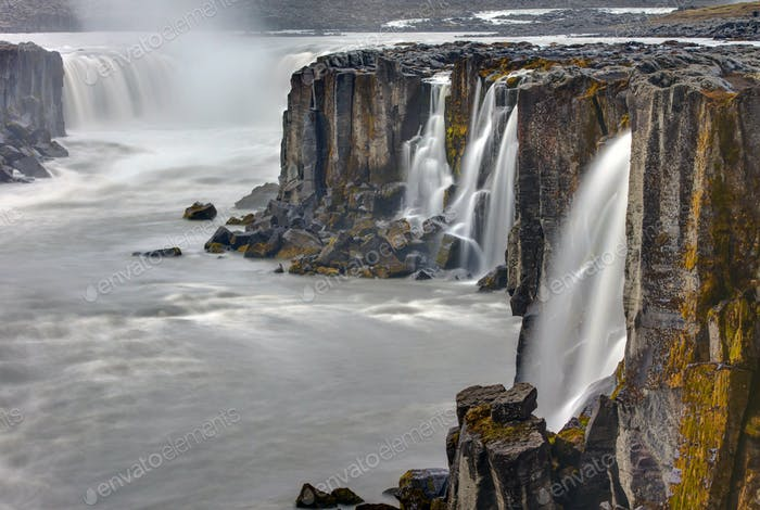 The waterfall Selfoss in Iceland